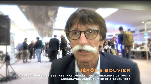 Jérome Bouvier, Fondateur des Assises internationales du journalisme de Tours.